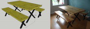 scaffold board dining table design